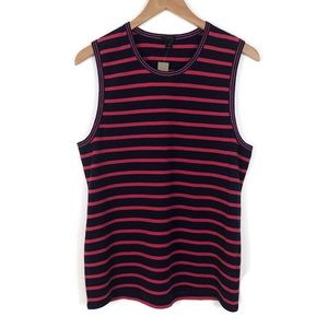 New J. Crew Metallic-Trim Striped Shell XL